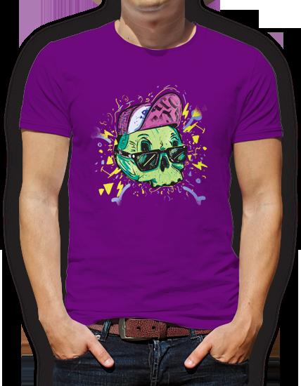 camiseta calavera diseño grafico pacografico