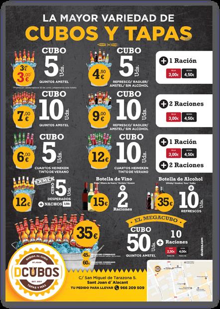 diseño de grafico folletos cervecería dcubos san juan de alicante