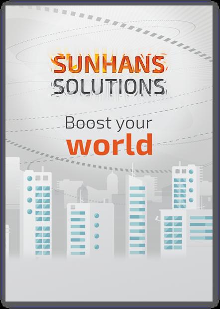 Diseño gráfico de cartel para cebit 2016 sunhans