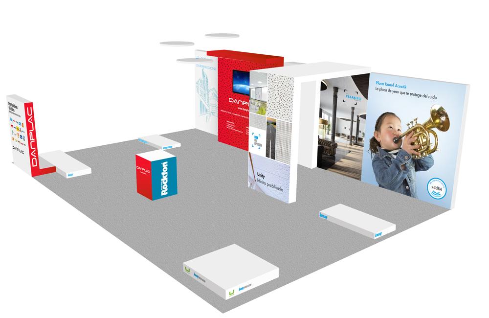 Diseño y concepto stand danplac para firamaco alicante
