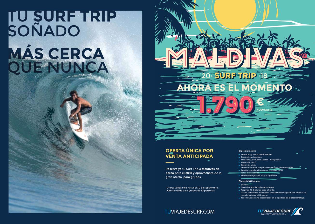 diseño gráfico de anuncio en revista surfing spain magazine freelance alicante