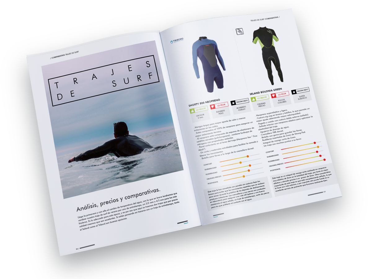 diseño editorial interior de revista surfing spain magazine freelance alicante comparativas