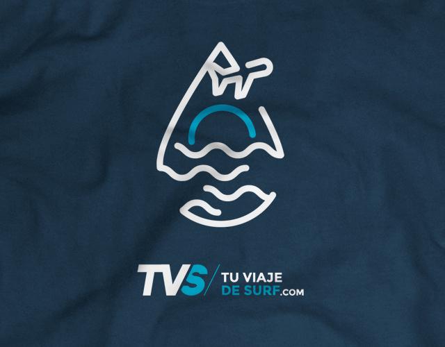 Diseño de Logotipo, diseño gráfico freelance publicitario y diseño de camisetas Tu Viaje de Surf