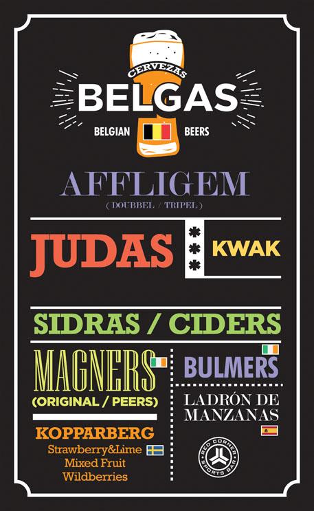diseño grafico carta de cervezas belga red corner alicante diseño gráfico freelance alicante
