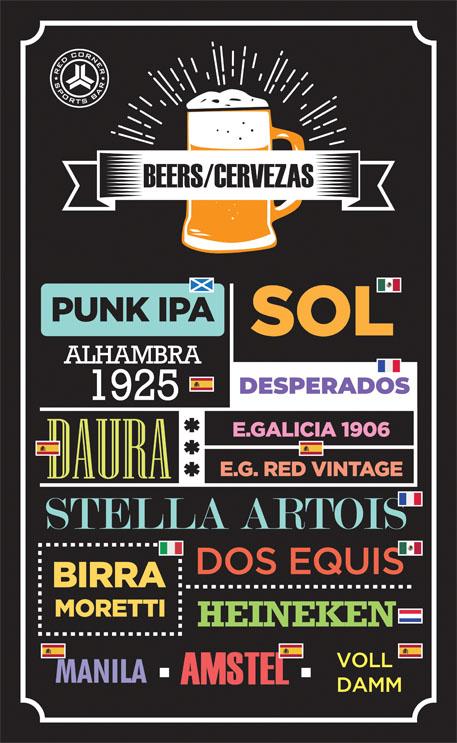 diseño grafico carta de cervezas red corner alicante diseño gráfico freelance alicante