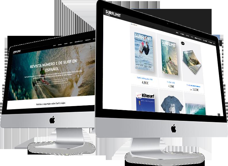 diseño web tienda online surflimit magazine diseñador grafico freelance alicante