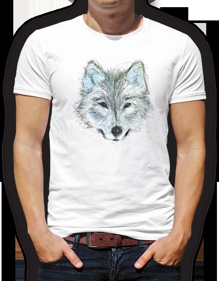 camiseta lobo diseño grafico pacografico