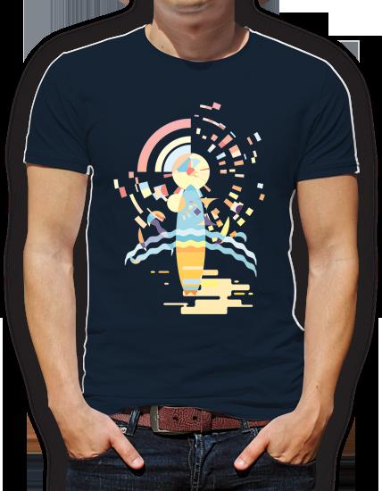 camiseta surf diseño grafico pacografico