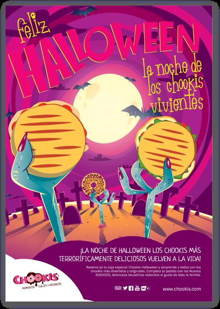 Diseño gráfico de cartel para halloween chookis alicante