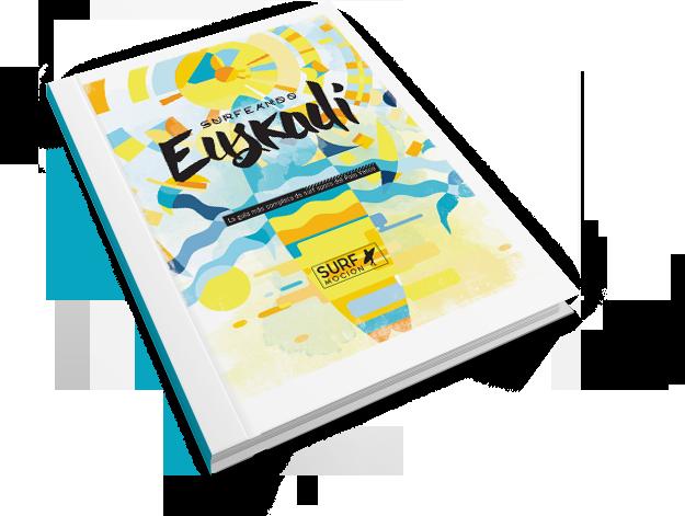 diseño gráfico y maquetación editorial de guía de surf para surfmocion