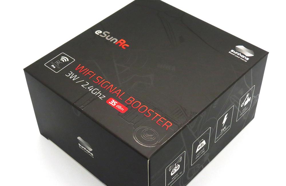 diseño grafico de packaging amplificadores wifi sunhans