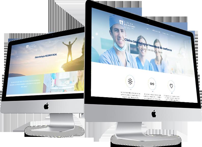 diseño corporativo diseño de logotipo clinica balaciart alicante diseño web