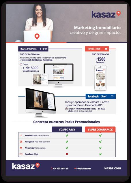 diseño gráfico folleto flyer para kasaz barcelona diseñador gráfico alicante