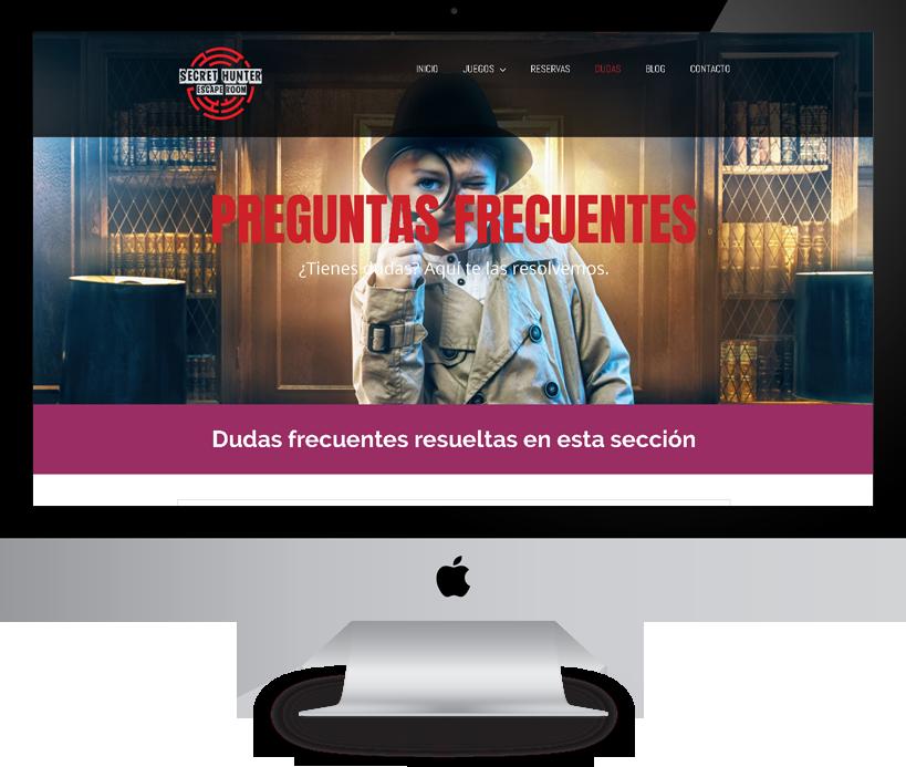 diseño web secrethunter alicante pacografico diseñador web freelance