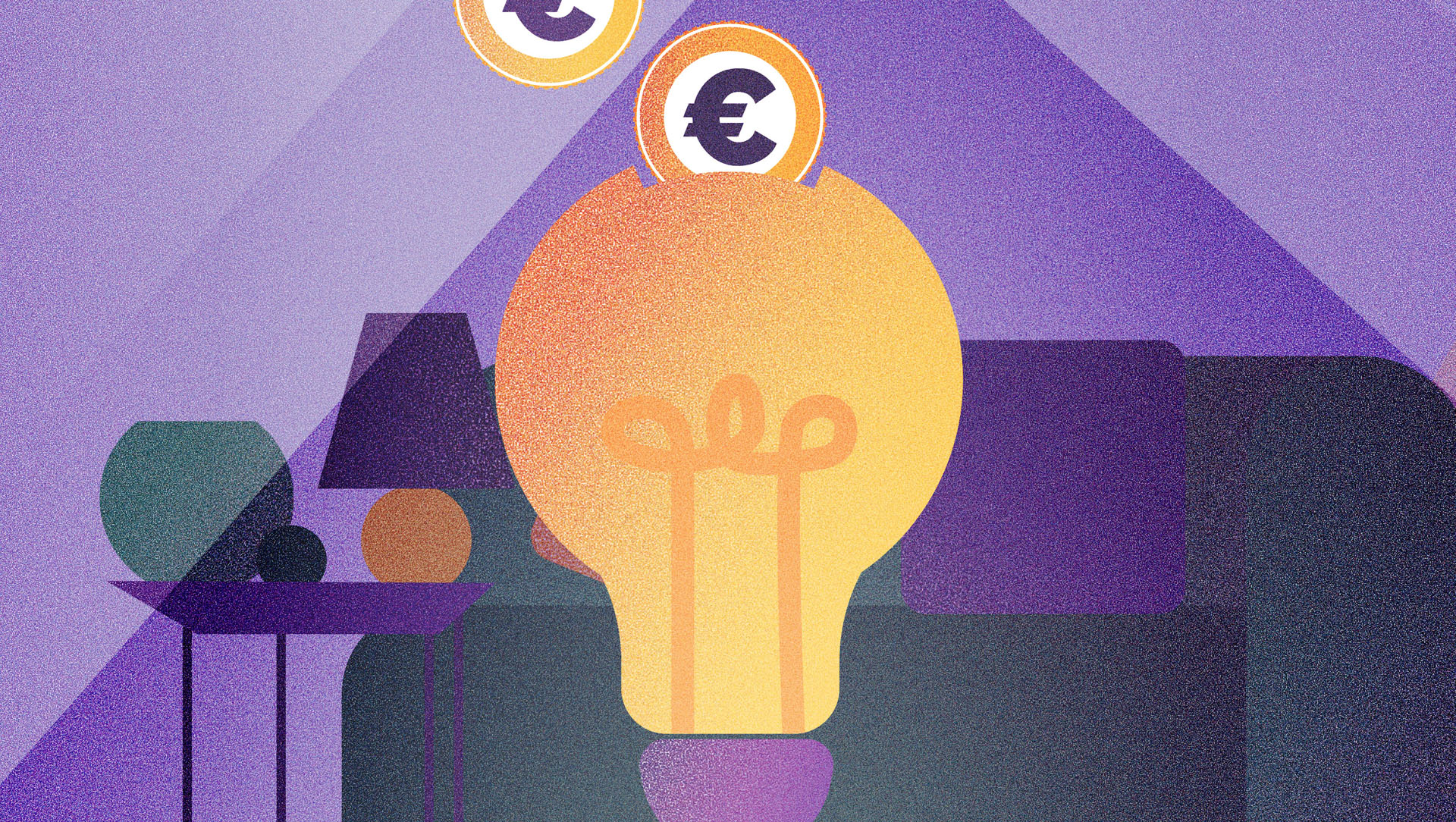 diseño de ilustracion para ilustrar post sobre ahorro energetico kasaz portal inmobiliario diseño grafico