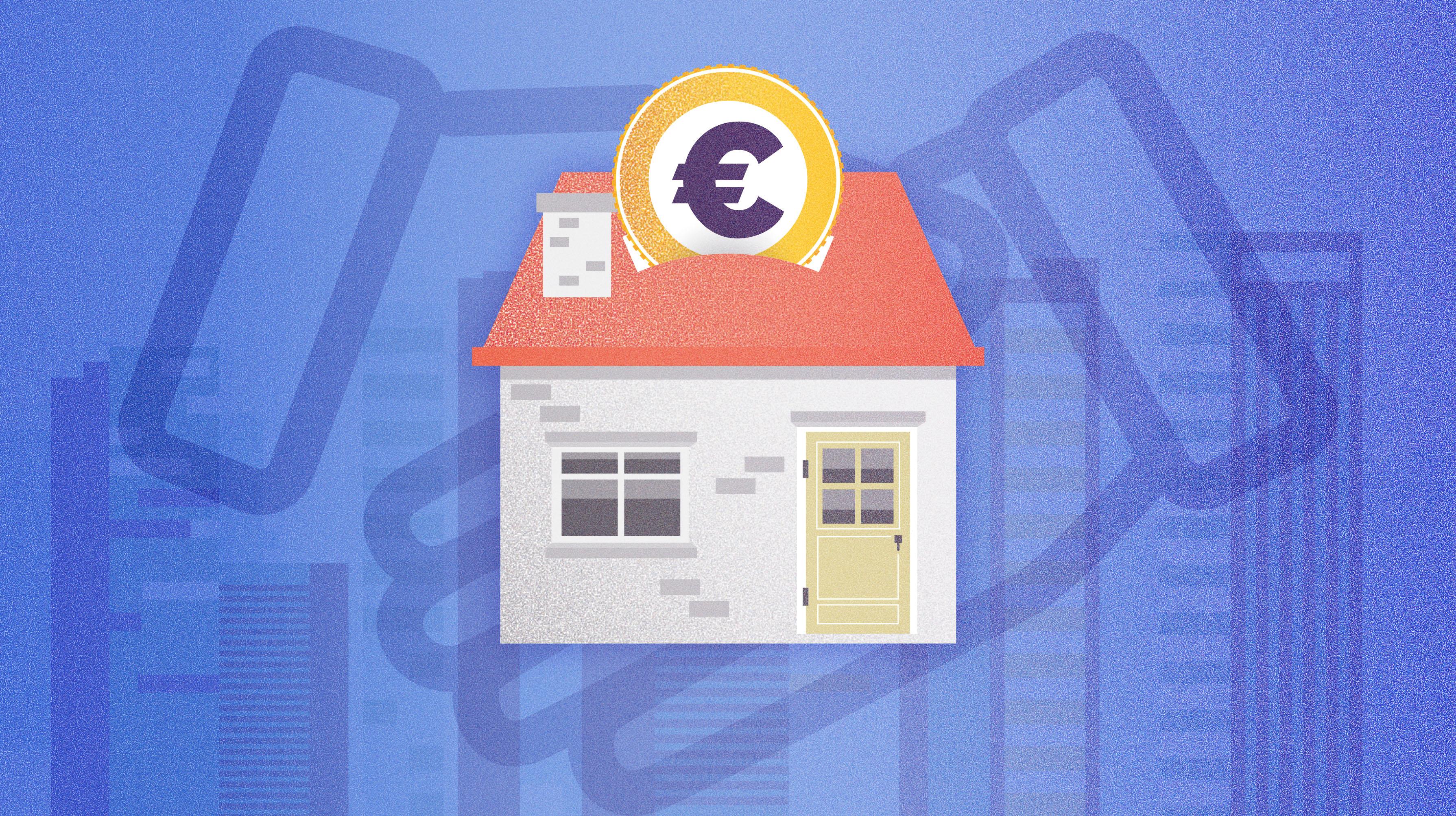 ilustracion hipotecas diseño gráfico