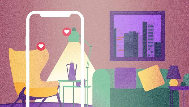 diseño de ilustracion para ilustrar post sobre el staging kasaz portal inmobiliario diseño grafico
