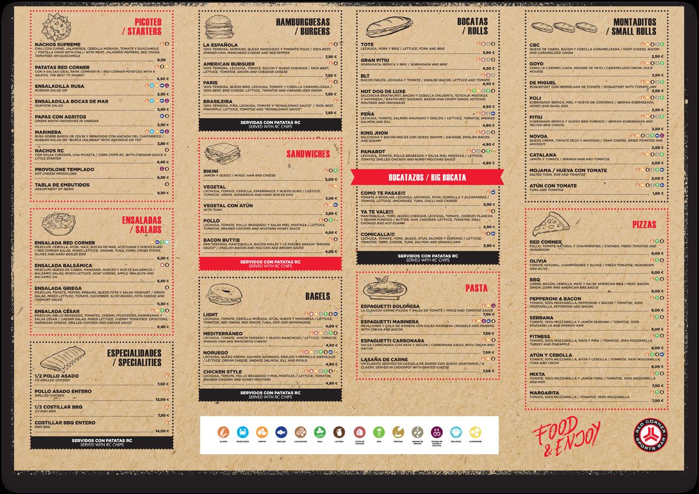 diseño gráfico de carta pub restaurantes y bares diseño gráfico freelance alicante