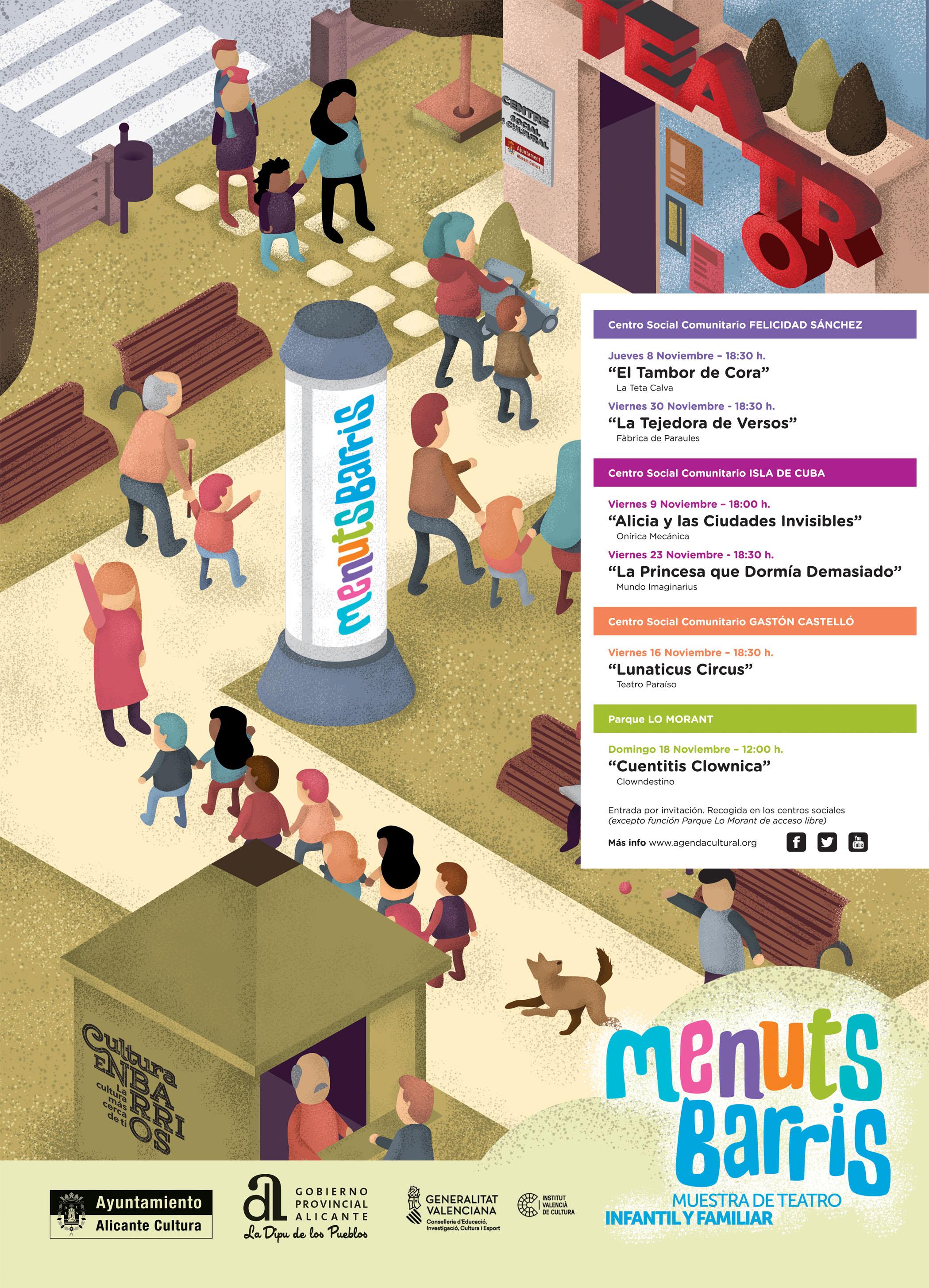 diseño grafico cartel menuts barris concejalia de cultura ayuntamiento de alicante diseñador grafico freelance alicante