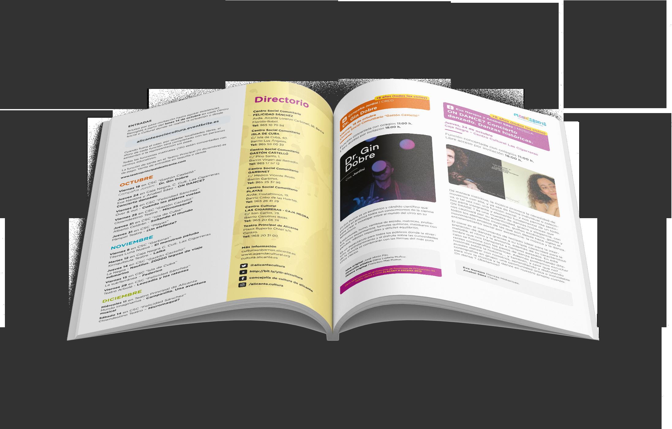 diseño grafico freelance folleto menuts barris 2019