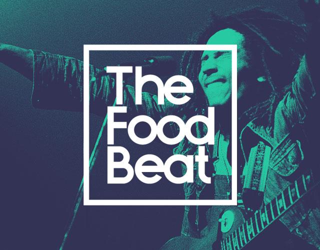Diseño de logotipo the food beat keruak