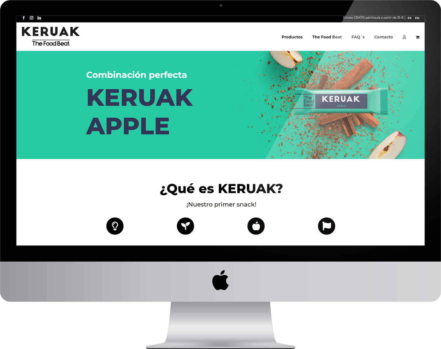 diseño web tienda online the food beat keruak