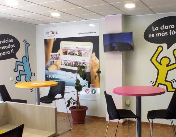 diseño grafico rotulacion diseño corporativo diseñador grafico freelance alicante decoracion paredes oficina