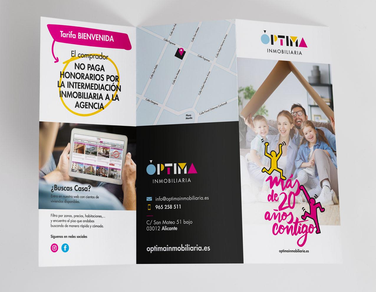 diseño grafico triptico diseño corporativo diseñador grafico freelance alicante
