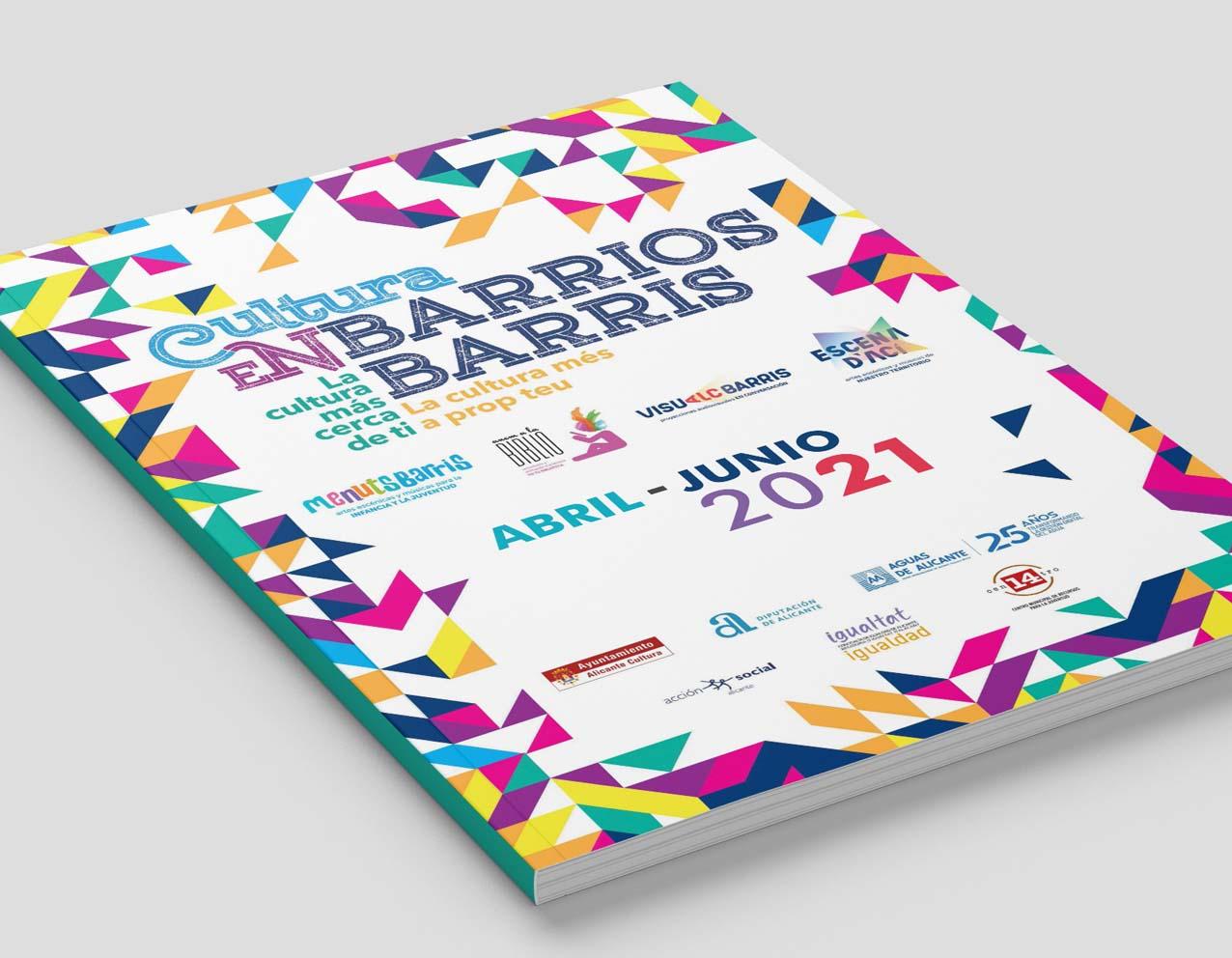 diseño grafico cartelería y campaña cultura en barrios alicante 2021 concejalía de cultura